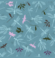 dragonflies with lace design wings flying over a vector image