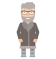 Embarrassed hipster north man vector image