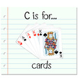 Flashcard letter C is for cards vector image vector image