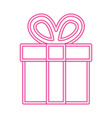 gift box neon white background vector image