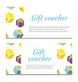 gift voucher background for banner vector image