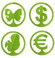 green emblem vector image vector image