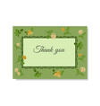 greeting card with yellow roses on a green vector image vector image
