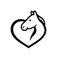 horse love sign vector image vector image