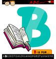 letter b with book cartoon vector image vector image