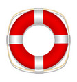 lifebuoy white background isolated object vector image vector image