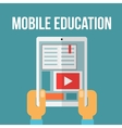 Mobile education concept vector image vector image