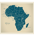 Modern Map - Africa continent with country labels vector image vector image