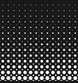 monochrome geometrical halftone dot pattern vector image vector image