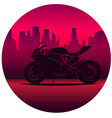 motorcycle print with motorbike old chopper vector image