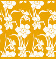narsisus bouquet seamles pattern vector image vector image