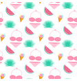palm leaf ice cream swimsuit watermelon summer vector image vector image