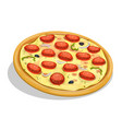 pepperoni pizza vector image vector image