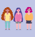 perfectly imperfect body plus size and problem vector image