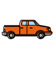 pick up vehicle vector image