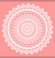 pink and white mandala vector image