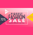 pink voucher design for fashion sale vector image vector image