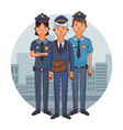 police officers cartoons vector image
