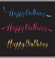 postcard with the inscription happy birthday in vector image vector image