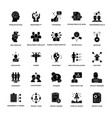 project management glyph icons vector image