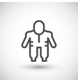 Protective safety overalls line icon vector image vector image