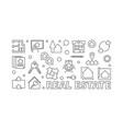 real estate outline or banner vector image vector image