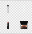 realistic pomade beauty accessory mouth pen and vector image vector image
