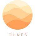 sand dunes icon desert landscape logo vector image vector image