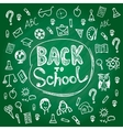 Set back to school Blackboard chalk sketch White vector image vector image