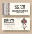 set of boho ornament style concept vector image vector image