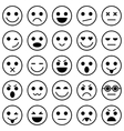 Set of Emoticons Set of Emoji vector image vector image