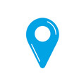 silhouette location symbol to search in the map vector image vector image