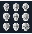 Skull icon set in a flat style vector image