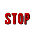 stop word text vector image vector image