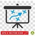 Strategy Way Board Eps Icon vector image vector image