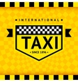 Taxi symbol with checkered background - 08 vector image vector image