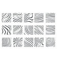 topology abstract isolated on white abstract waves vector image