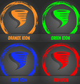 Tornado icon Fashionable modern style In the vector image