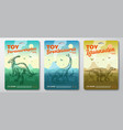 toy dinosaur labels template set abstract vector image