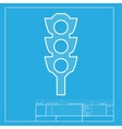 Traffic light sign White section of icon on vector image vector image