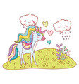 unicorn fantastic cartoon vector image vector image