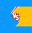 versus letters fight background flat comics style vector image vector image