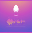 voice recognition concept vector image vector image