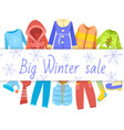 winter sale clothing banner vector image vector image