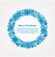 wreath snowflakes new year or christmas frame vector image