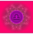 zodiac sign Libra What is karma circle vector image