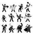 zombie infected undead character designs vector image vector image