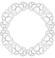 flower black and white wreath for valentine day vector image