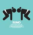 Black Symbol Graphic Sumo Fighting vector image