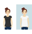 Cute girl in T-shirts vector image